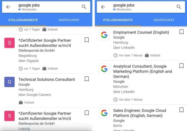 Das Logo hilft entscheidend bei der Auffindbarkeit Ihrer Jobs bei Googles Jobsuche