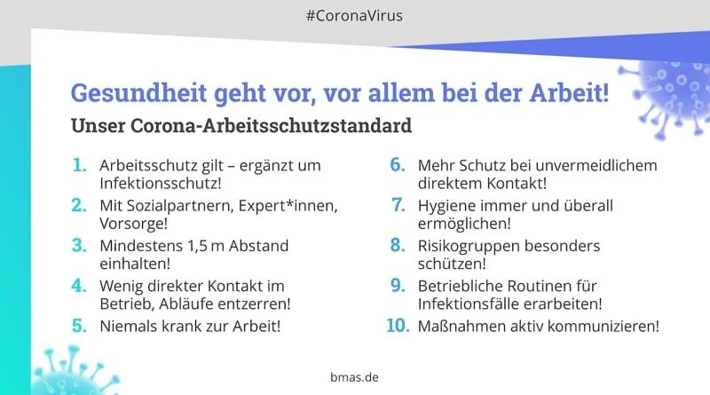 Infografik - Gesundheit geht vor, vor allem bei der Arbeit - Quelle bmas.de