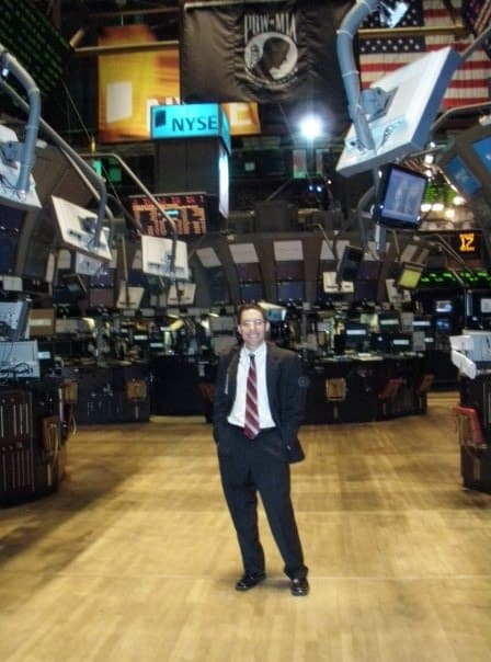 Eric Rosenberg at the New York Stock Exchange
