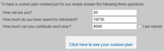 5 Minute Retirement Plan