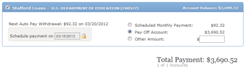 Student Loan Payoff