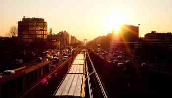 Train and Traffic Rush Hour