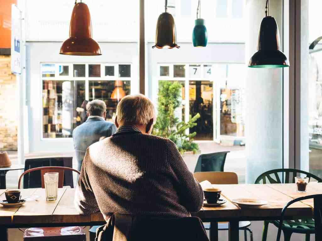 Self Employed Man in Coffee Shop
