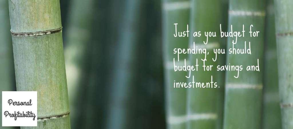 Budgeting Savings Investments PersonalProfitability.com