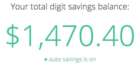 Digit Savings Balance PersonalProfitability.com