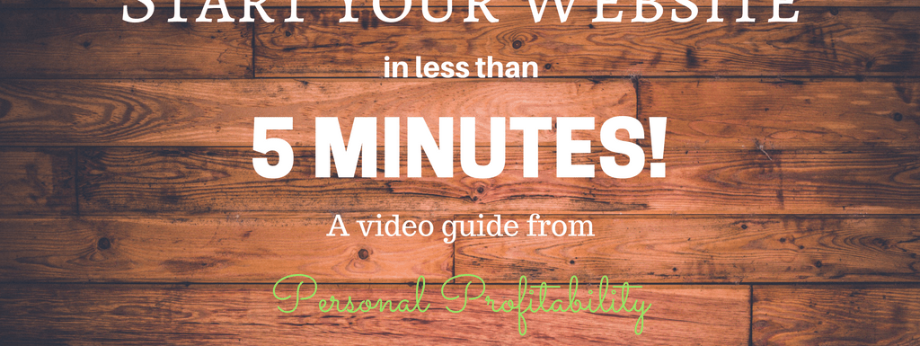 Create Your Website in 5 Minutes!