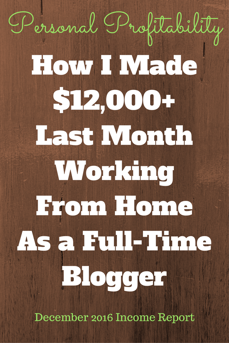 December meant holidays for most people, but I was hard at work hustling for my clients. I brought in over $12,000 in December. Learn how!
