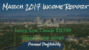 March 2017 Income Report
