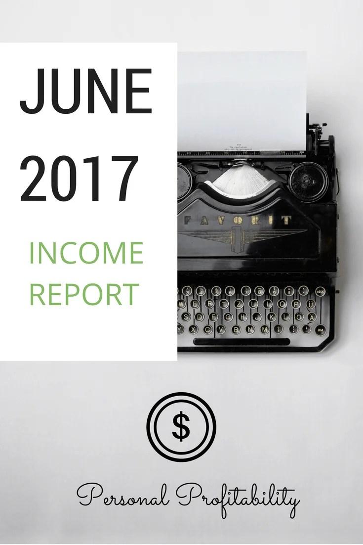 June 2017 Income Report