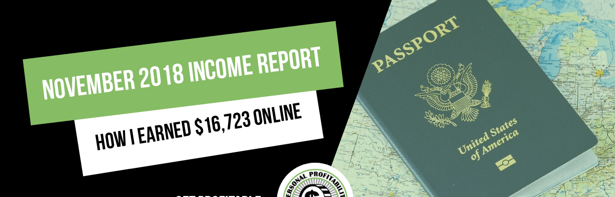 November 2018 Online and Side Hustle Income Report