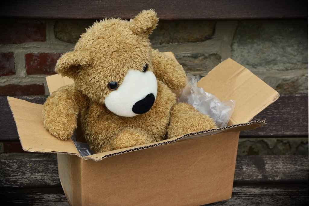 Teddy bear in box- Holiday budget guide- PersonalProfitability.com