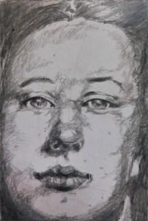Irene van den Bos, Face tekening - PULCHRI