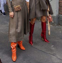 Гости модного показа Фенди в сапогах бренда