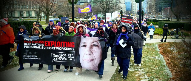 PSW strike for wage increase