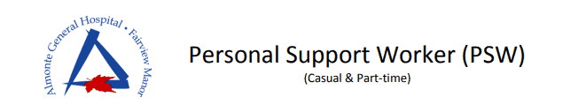 Personal Support Worker Jobs at Almonte General Hospital