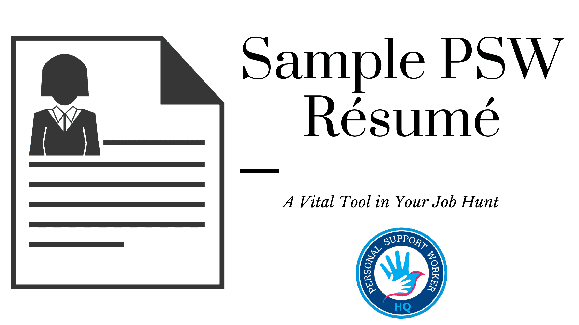 Sample Personal Support Worker Résumé