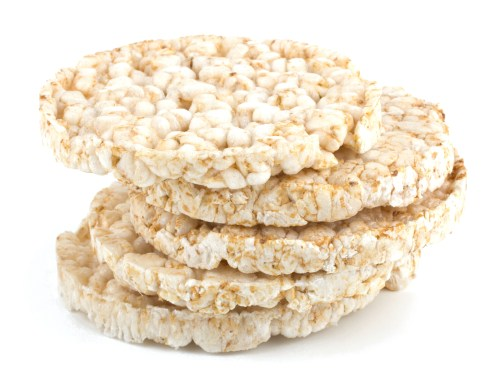 A stack of high glycemic rice cakes.