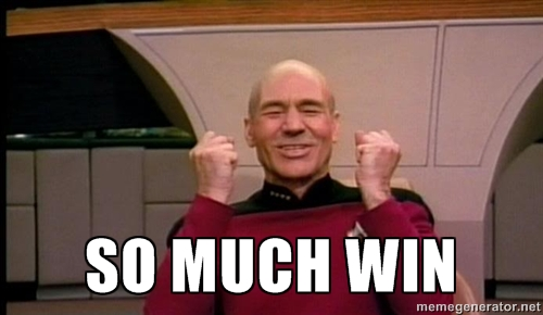 "Captain Picard says ""so much win""!"