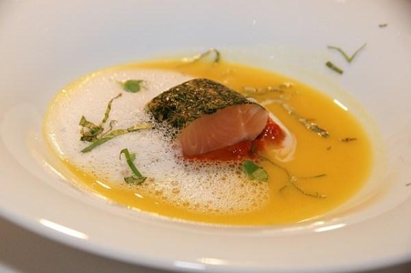 Zalm-prei soep