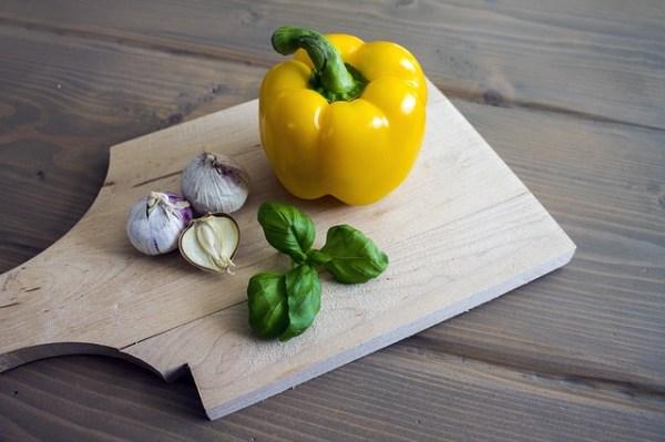 Bloemkoolrijst met peultjes en paprika