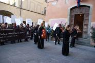 Empoli, un momento del Grande Raduno nazionale con... i musicanti