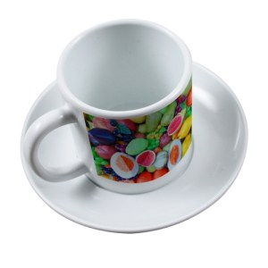 Tasse à Café et Sous-Tasse en Polymère
