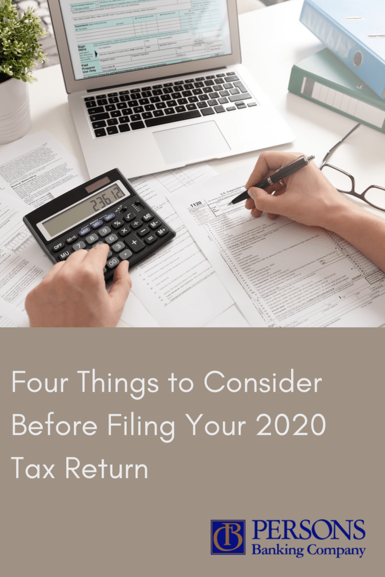 4 Things to Consider Before 2020 Tax Season