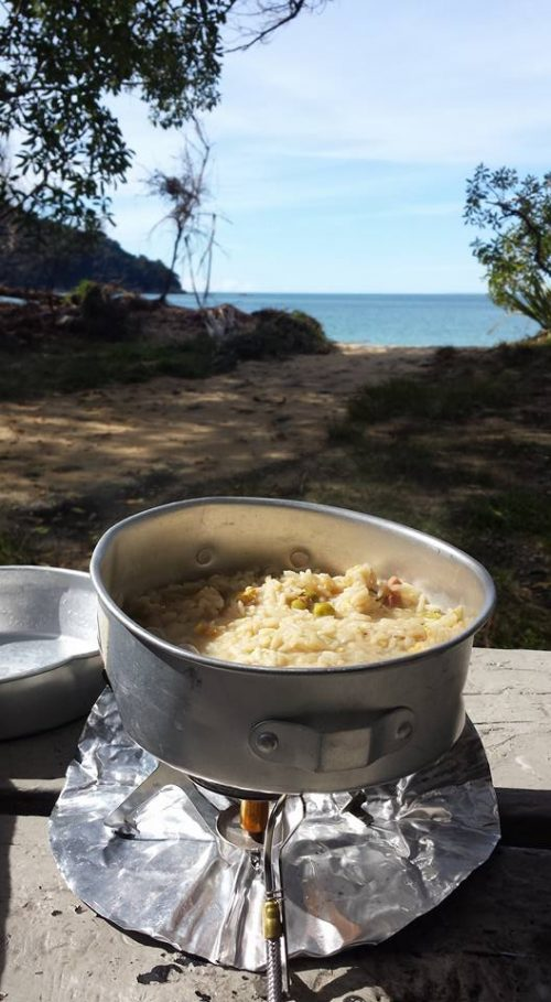 Abel Tasman, pranzo sul sentiero