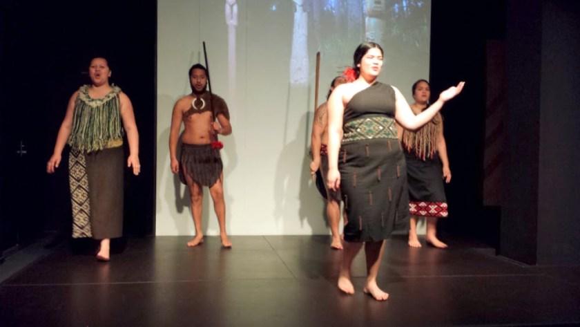 Una rappresentazione Maori