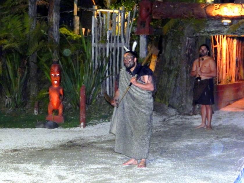 Nel villaggio Maori