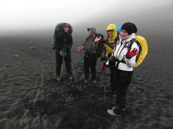 Laugavegur: la nebbia sul sentiero