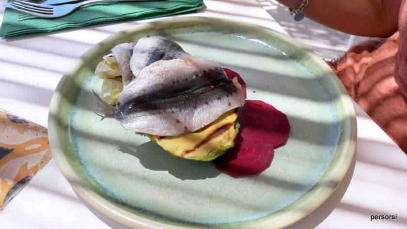 Uno dei piatti del Maiolica