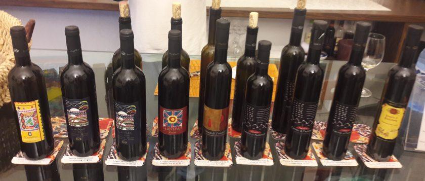 I vini in degustazione alla Minardi