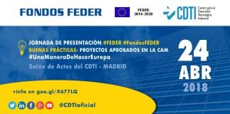 Jornada FEDER en le salón de actos del CDTI