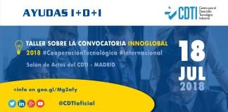 Taller convocatoria Innoglobal 2018. 18 de julio de 2018 en el Salón de Actos del CDTI