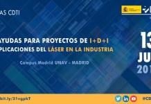 Jornada sobre ayudas CDTI para aplicación del láser en la industria