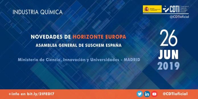Presentación sobre Horizonte Europa en SusChem España