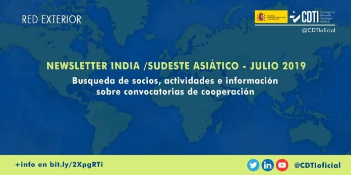Newsletter CDTI India y Sudeste Asiático