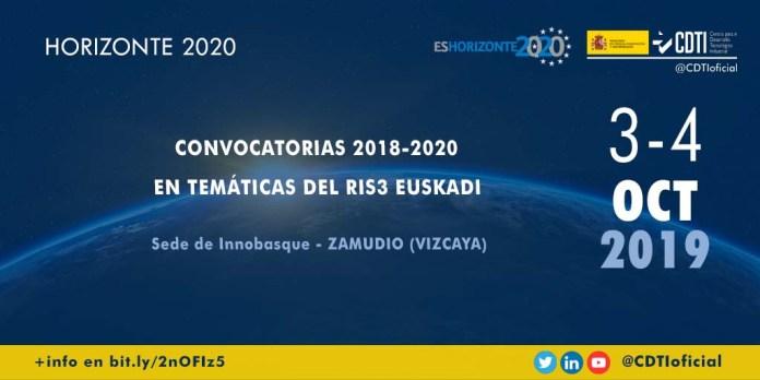 Jornada convocatorias H2020 para RIS3 Euskadi