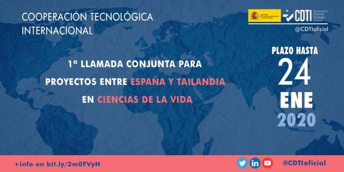 Primer llamada España-Tailandia en ciencias de la vida