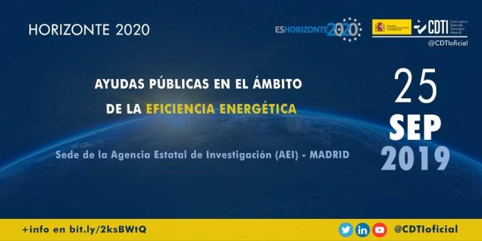 Jornada H2020 sobre ayudas públicas en eficiencia energética