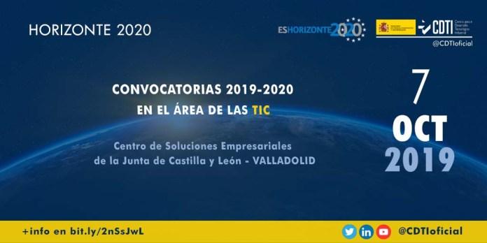 jornada sobre convocatorias H2020 en el ámbito de las TIC