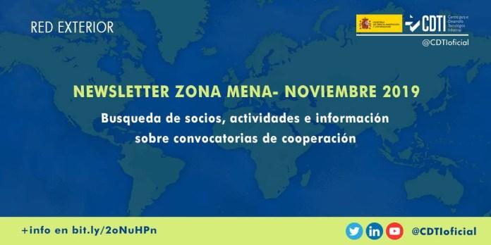 newsletter noviembre 2019 zona MENA