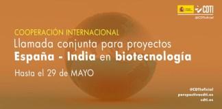 convocatoria españa-india biotecnología