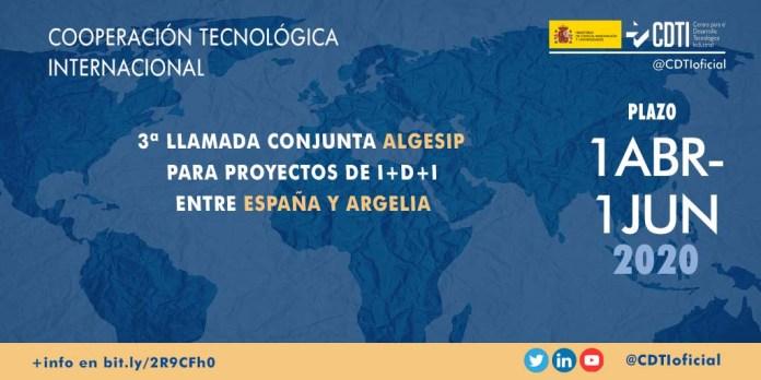 tercera convocatoria algesip proyectos españa argelia