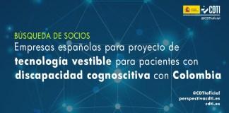 busqueda socios wearable discapacidad cognoscitiva con colombia