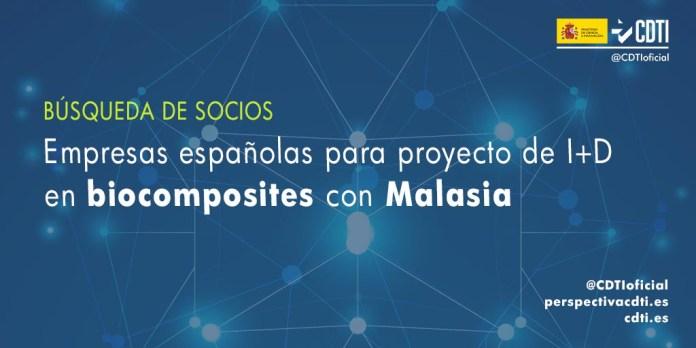 búsqueda de socios biocomposites con Malasia