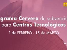 convocatoria Programa Cervera para centros tecnológicos