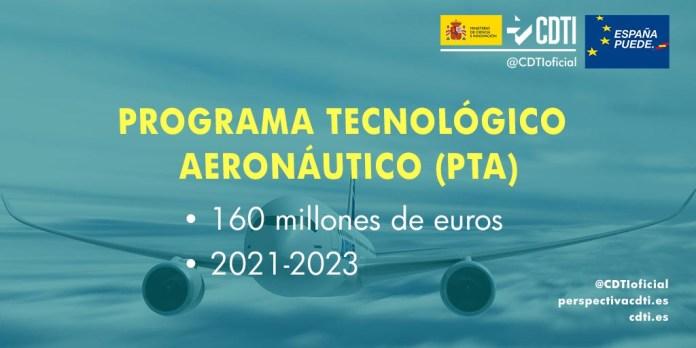 lanzamiento programa tecnológico aeronáutico PTA
