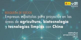 Búsqueda de socios para proyectos con China